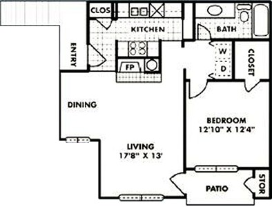 A2 - One Bedroom / One Bath - 743 Sq. Ft.*